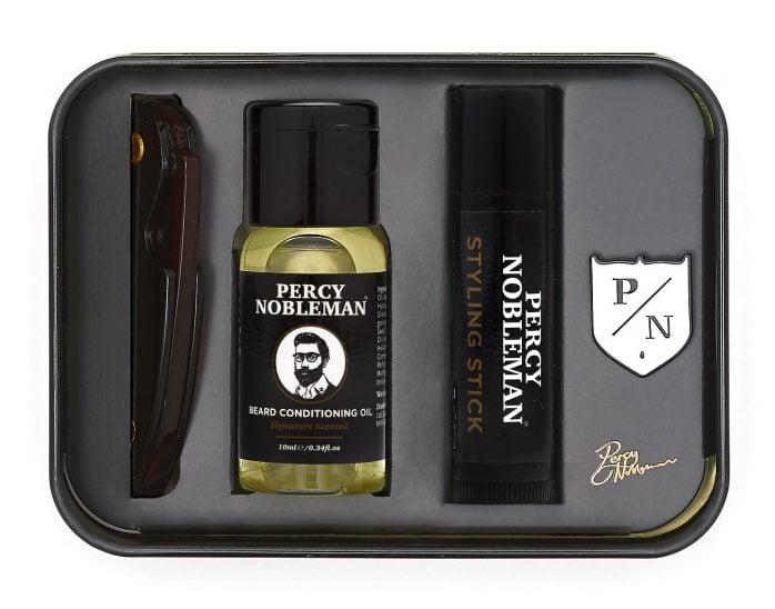 Le kit d'entretien de barbe Percy Nobleman