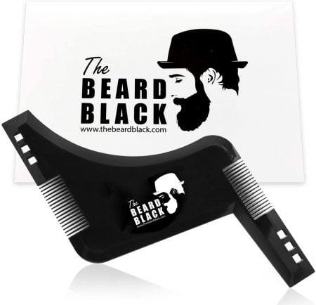 Peigne et pochoir barbe The Beard Black